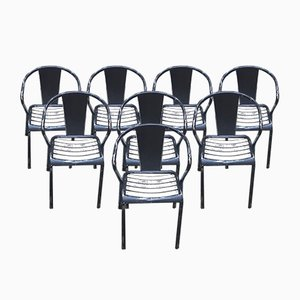 Model T5 Dining Chairs from Tolix, 1940s, Set of 8