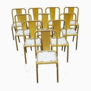 Chaises de Salle à Manger Modèle T4 de Tolix, années 40, Set de 10