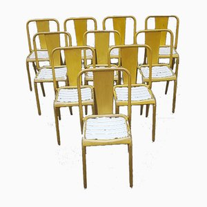 Model T4 Dining Chairs from Tolix, 1940s, Set of 10