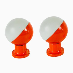 Space Age Opaline Sconces from Kaiser Leuchten, 1970s, Set of 2