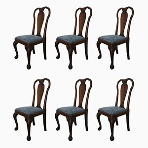 Antique Mahogany Dining Chairs from Gouffé, Set of 6