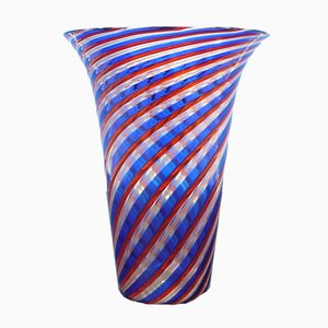 Vintage Glass Vase by Paolo Venini for Murano, 1970s