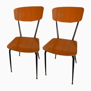 Italian Formica Dining Chairs, 1970s, Set of 2