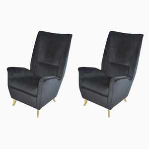 Lounge Chairs by Gio Ponti for ISA Bergamo, 1950s, Set of 2