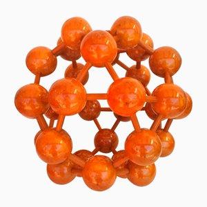 Modellino di molecola Mid-Century in legno, 1960s