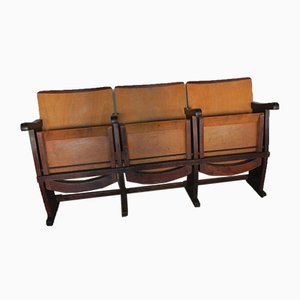 Mid-Century Italian 3-Seater Cinema Chair, 1950s