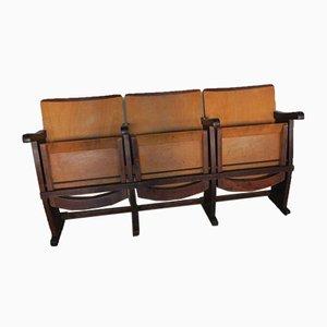 Mid-Century Italian 3-Seater Cinema Chair, 1950s