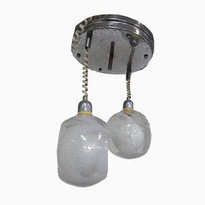 Lámpara de techo italiana Mid-Century de cristal de Murano, años 50