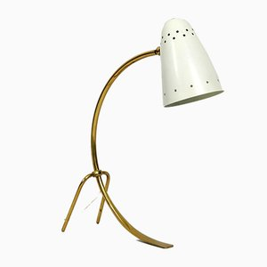 Grande Lampe de Bureau en Laiton et Métal de JT Kalmar, années 50