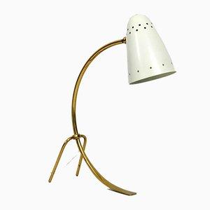 Lampada da tavolo grande in ottone e metallo di J. T. Kalmar, anni '50