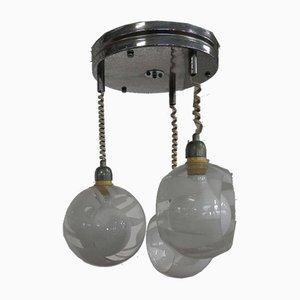 Italienische Mid-Century Deckenlampe aus Muranoglas, 1950er