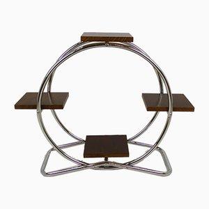 Estantería Bauhaus de acero tubular cromado, años 30