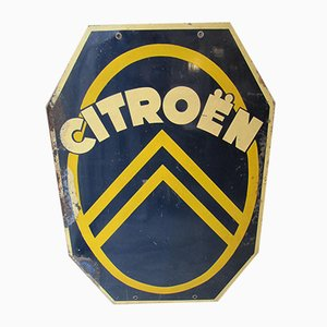 Vintage Metal Citroen Sign