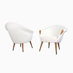 Dänische Sessel von Nanna Ditzel, 1950er, 2er Set