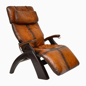 Leather Reclining Armchair from Interactive Health, 1989