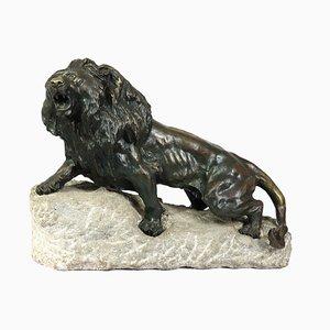 Escultura de león de bronce de Cartier, años 20