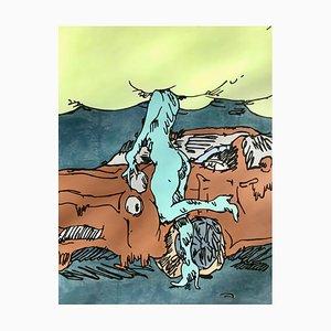 Ilustraciones Living In Cloud Cuckoo Land de Edwin Burdis