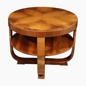 Table Basse Art Déco en Noyer, années 30