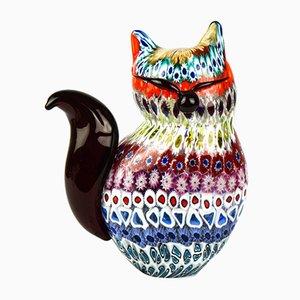Escultura de gato Murrina Millefiori de cristal de Murano, 2019