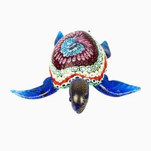Escultura de tortuga Murrina Millefiori de cristal de Murano, 2019