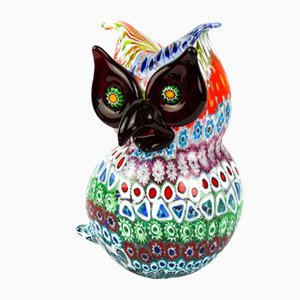 Sculpture Owl Murrina Millefiori from Made Murano Glass, 2019