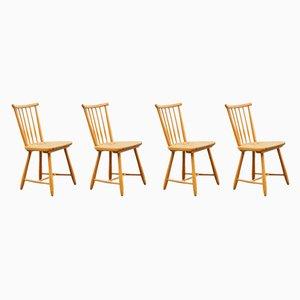 Esszimmerstühle aus Holz von Arno Lambrecht für WK Möbel, 1950er, 4er Set
