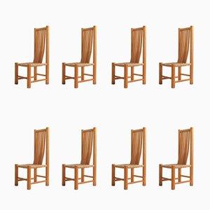 Esszimmerstühle aus Ulmenholz, 1960er, 8er Set
