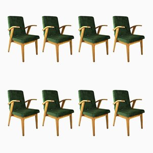 Vintage Lounge Chairs by Mieczyslaw Puchala, 1970s, Set of 8