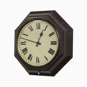 Horloge de Bureau de Poste Octogonale en Bakélite, années 30