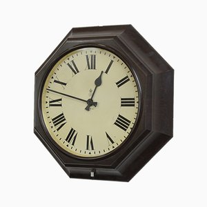 Octagonal Bakelite Post Office Clock, 1930s