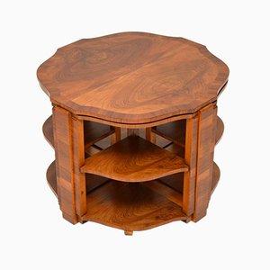 Art Deco Walnut Nesting Tables, 1920s
