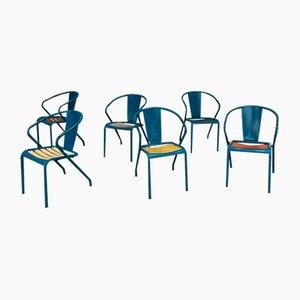 Mid-Century Esszimmerstühle von Tolix, 6er Set
