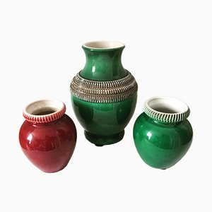 Vintage Vases by Pol Chambost for Chambost, Set of 3