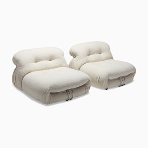 Soriana Lounge Chairs by Tobia & Afra Scarpa for Cassina, 1970s, Set of 2