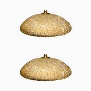 Lámparas de techo de Italamp, años 70. Juego de 2