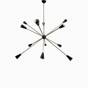 Mid-Century Sputnik Ceiling Lamp by Stilnovo for Stilnovo