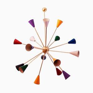 Lámpara de araña Sputnik, años 60