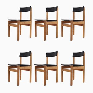 Chaises d'Appoint Modernistes de Van den Berghe Pauvers, années 60, Set de 6
