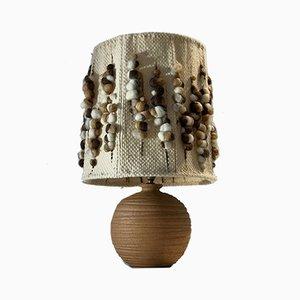 Tischlampe aus Keramik mit kugelförmigem Sockel von La Borne, 1970er