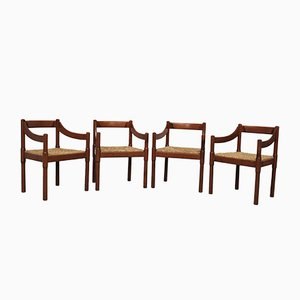 Dining Chairs by Vico Magistretti for Cassina, 1970s, Set of 4