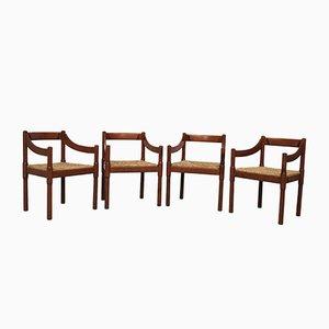 Esszimmerstühle von Vico Magistretti für Cassina, 1970er, 4er Set