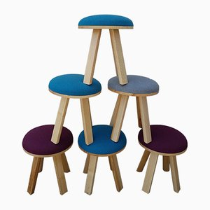 Stools by Gilles Alain for Buzzi Space, 2000s, Set of 8