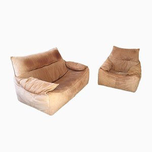 Mid-Century Leather Sofas by Gerhard Berg for Montis, 1970s, Set of 2