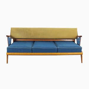 Mid-Century Convertible Wooden Sofa, 1960s