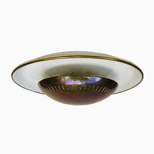 Lampada da soffitto in ottone di Kaiser-Leuchten, anni '50