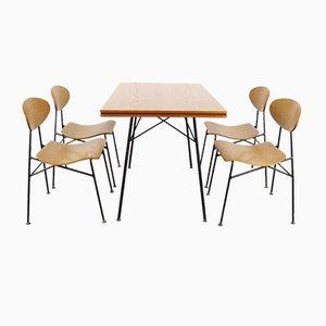 Mid-Century Dining Room Set, 1960s, Set of 5