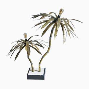 Lámpara de pie en forma de palmera de Maison Jansen, años 70