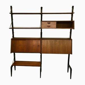 Libreria modulare vintage di Louis van Teeffelen per WéBé, anni '50