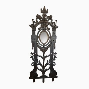 Antique Louis XVI Style French Cast Iron Coat Rack