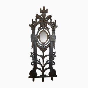 Perchero francés estilo Louis XVI antiguo de hierro fundido